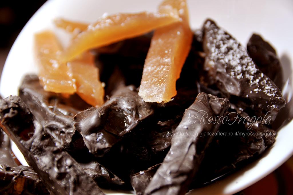 bastoncini di cotognata al cioccolato