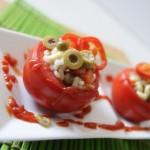 Pomodori ripieni con insalata di riso
