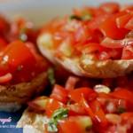 bruschette classiche,bruschette al pomodoro