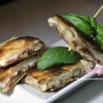 Sfoglia ripiena con funghi porcini prosciutto e formaggio