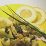 Insalata di carciofi e cedro,carciofi insalata