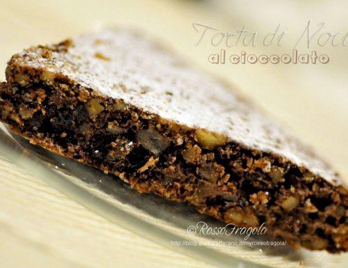 Torta di noci al cioccolato