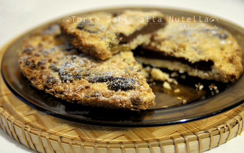 torta sablè alla nutella,sbrisolona alla nutella