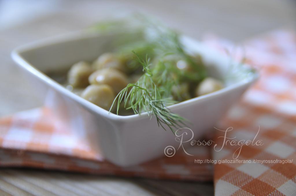 ricetta zuppa di ceci e finocchi