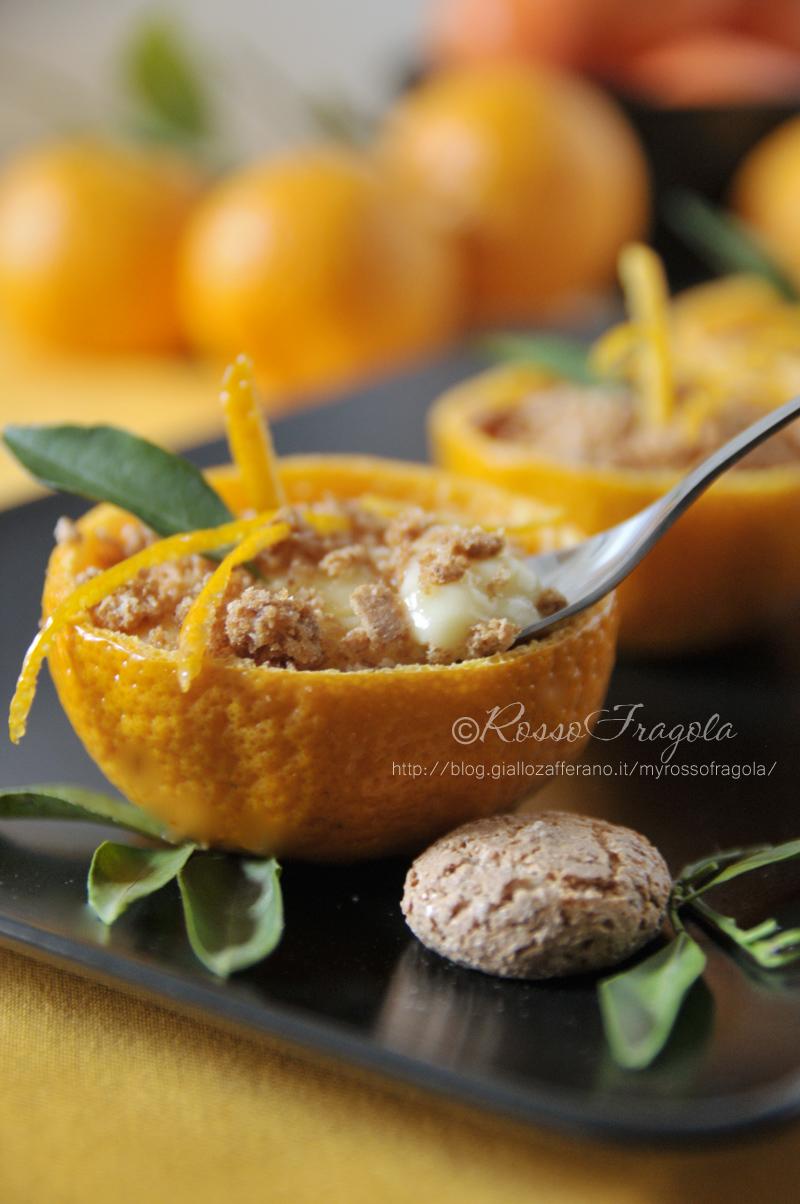 crema al mandarino con amaretti,coppe dessert al mandarino