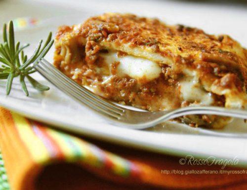 Lasagne finte al ragù – ricetta del riciclo