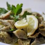 insalata di carciofi al limone