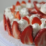 torta alle fragole e panna