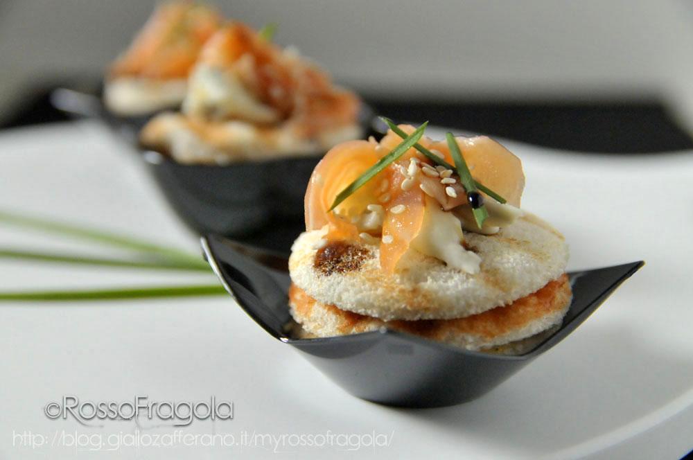 Torrette al salmone e gorgonzola