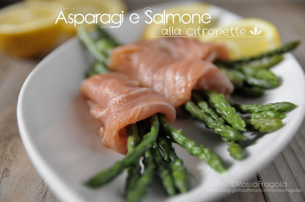 asparagi e salmone alla citronette