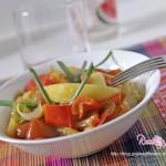 Ratatuille di peperoni patate e cipolle