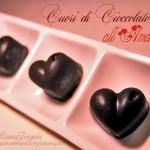 Cuori di cioccolato all'amarena