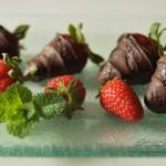Fragole al cioccolato per fest...