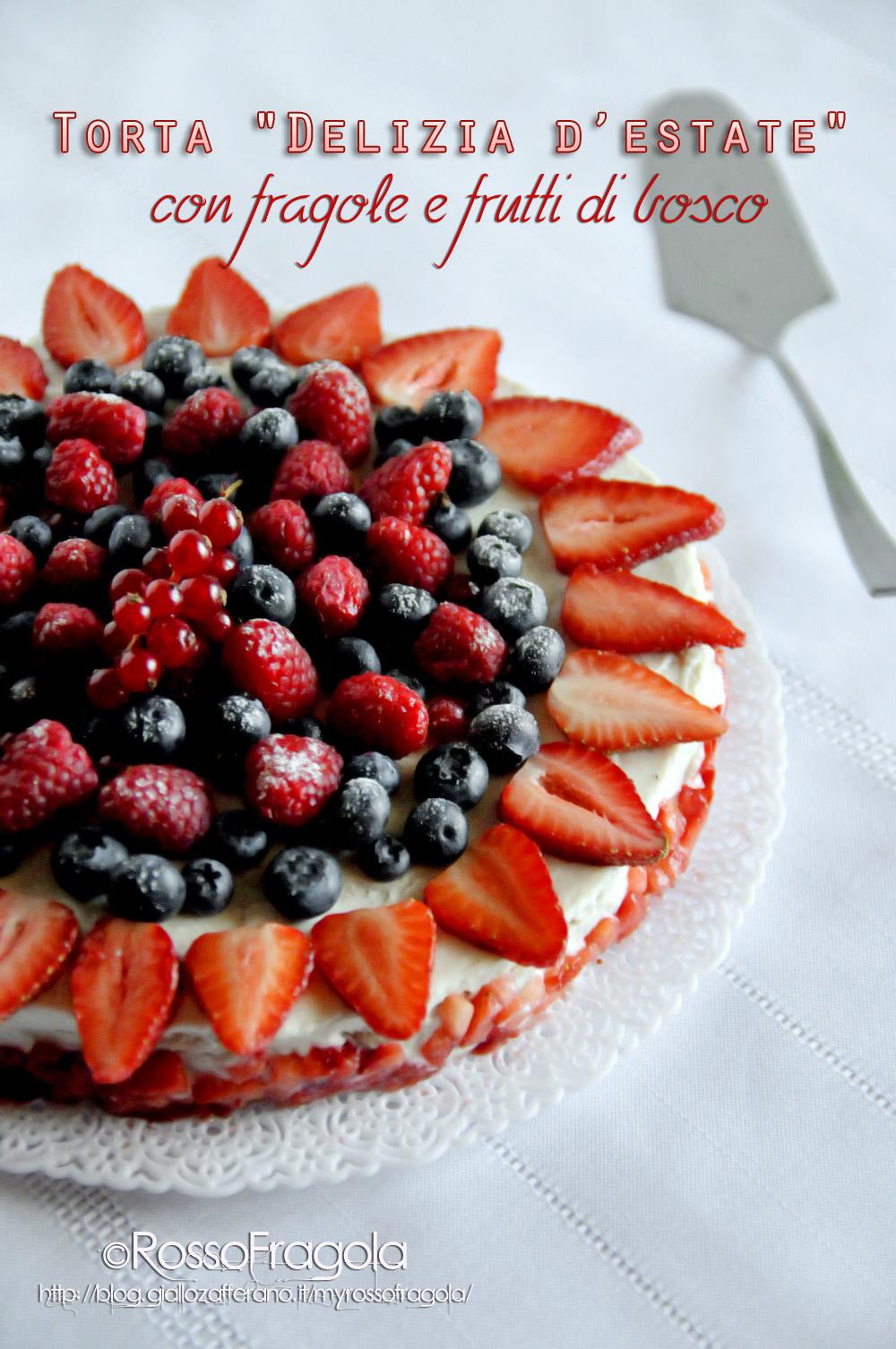torta delizia d'estate