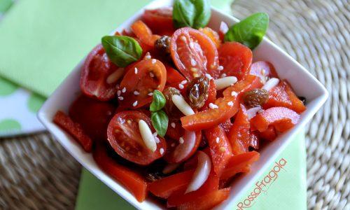 Insalata di peperoni e datterini – ricetta light