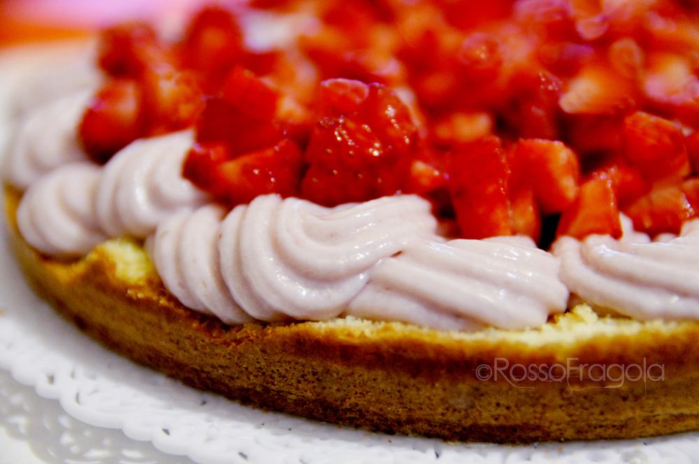 """Torta """"Capriccio alla fragola"""" © Rosso Fragola"""