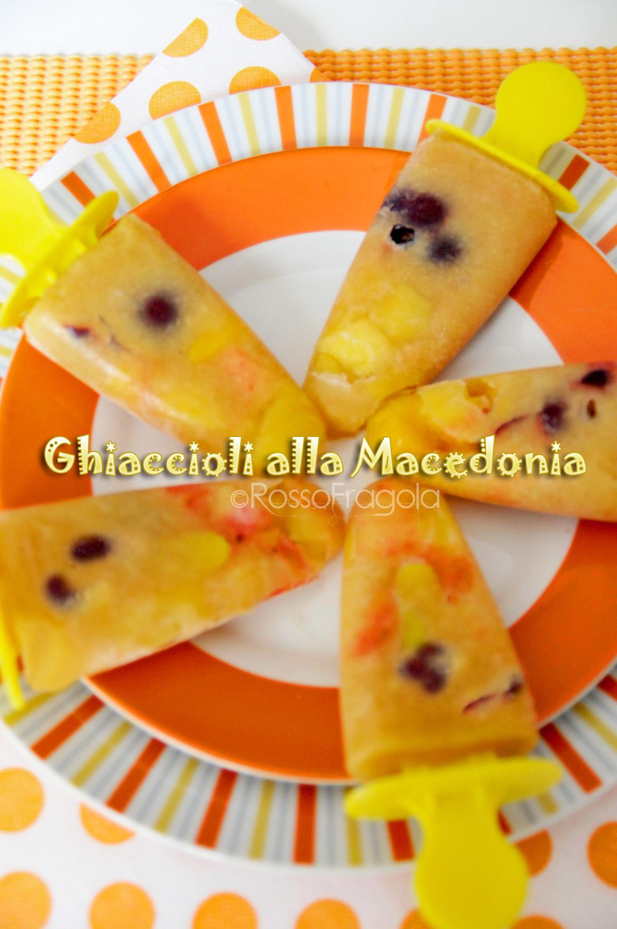 ghiaccioli alla macedonia