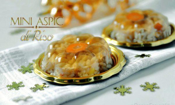 Mini Aspic di riso –  antipasto sfizioso