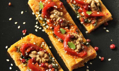 Crostì di Pizza rossa in padella – ricetta sfiziosa