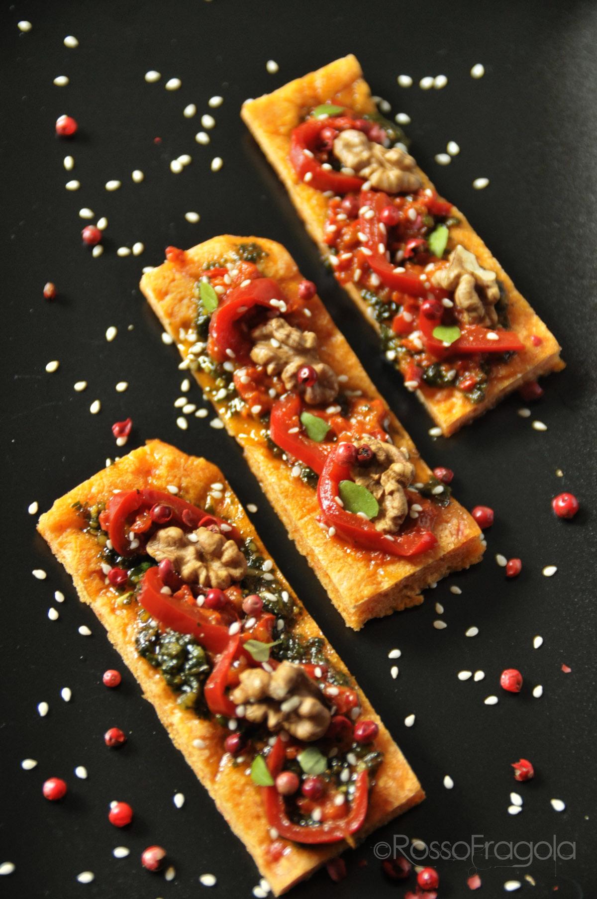 Crostì di Pizza rossa in padella