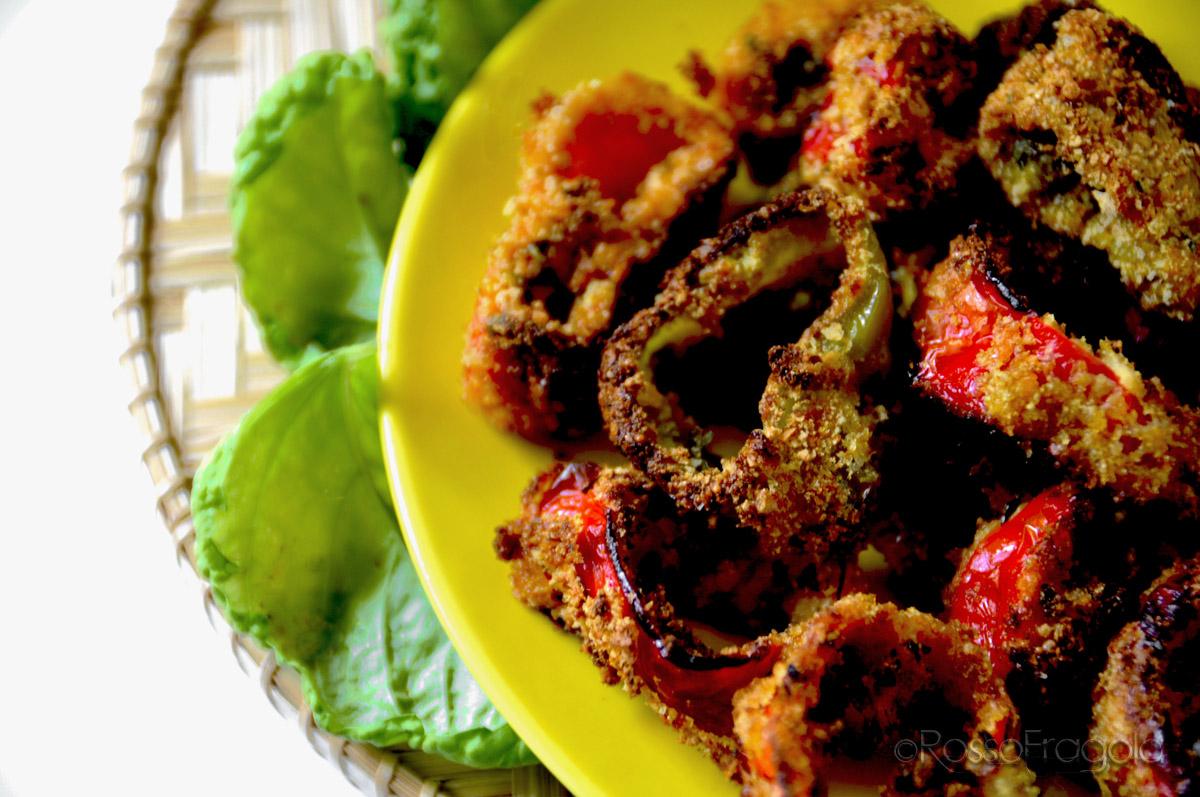 .anelli di peperoni al forno