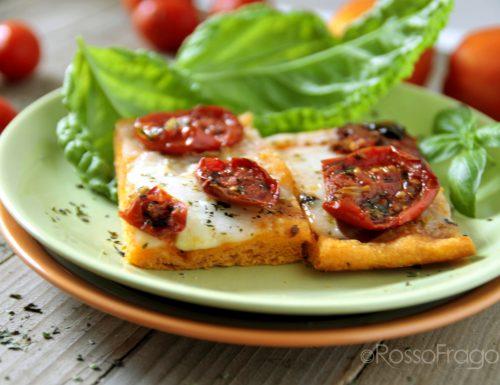 Pizza Rossa con pomodori confit e mozzarella