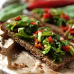 Crostini alla rucola e peperoncini - finger food