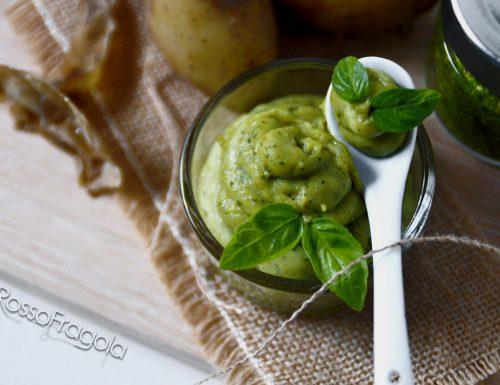 Purè di patate al pesto di basilico