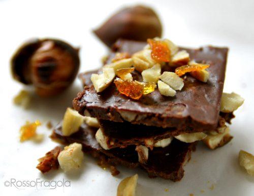 Tegoline di Cioccolato e castagne con pepite al caramello