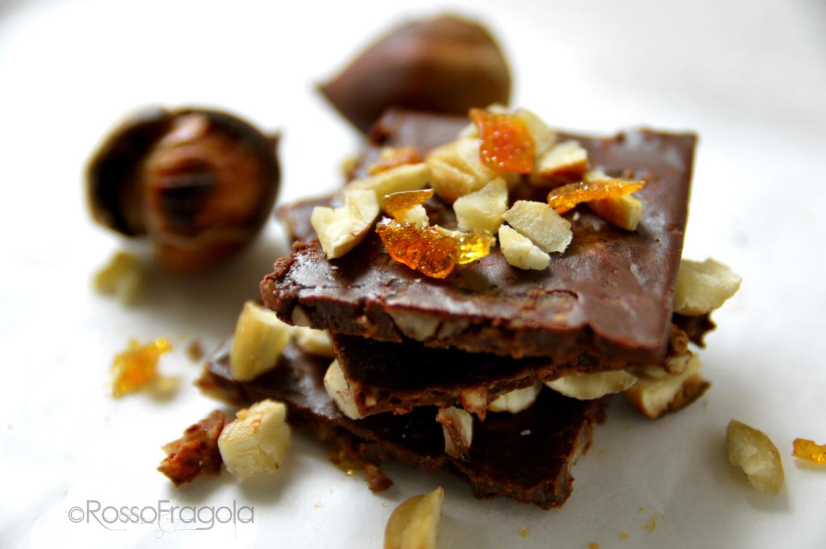 tegoline di cioccolato alle castagne