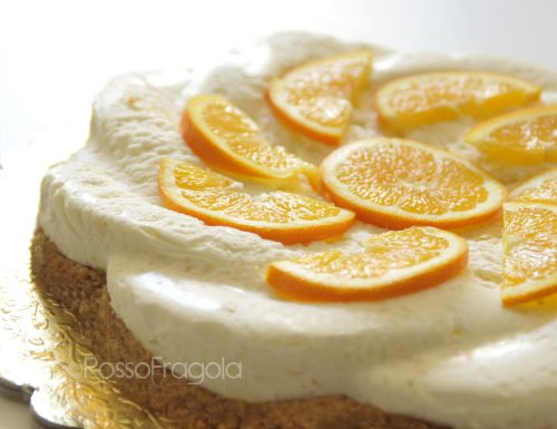 Cheese Cake all'arancia senza cottura