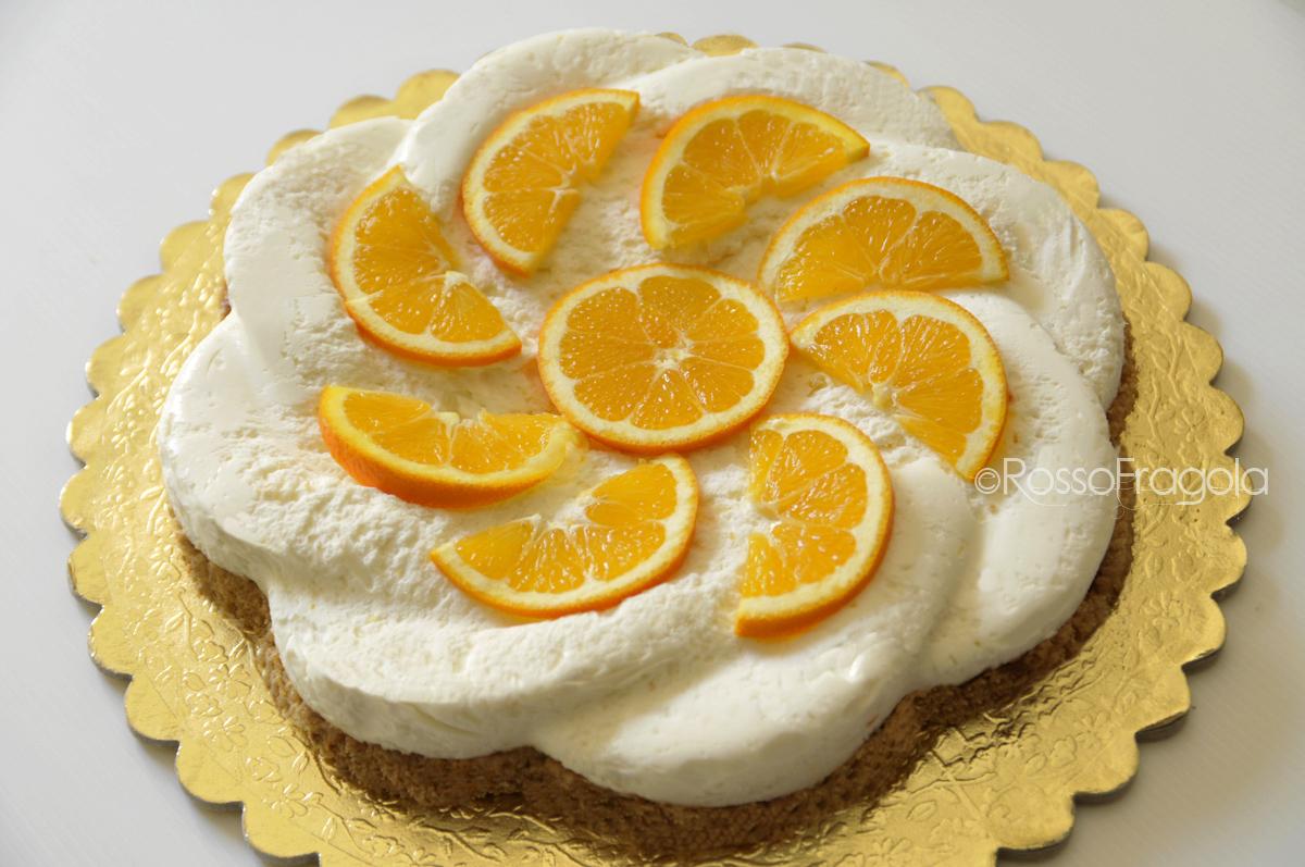 -cheese cake all'arancia