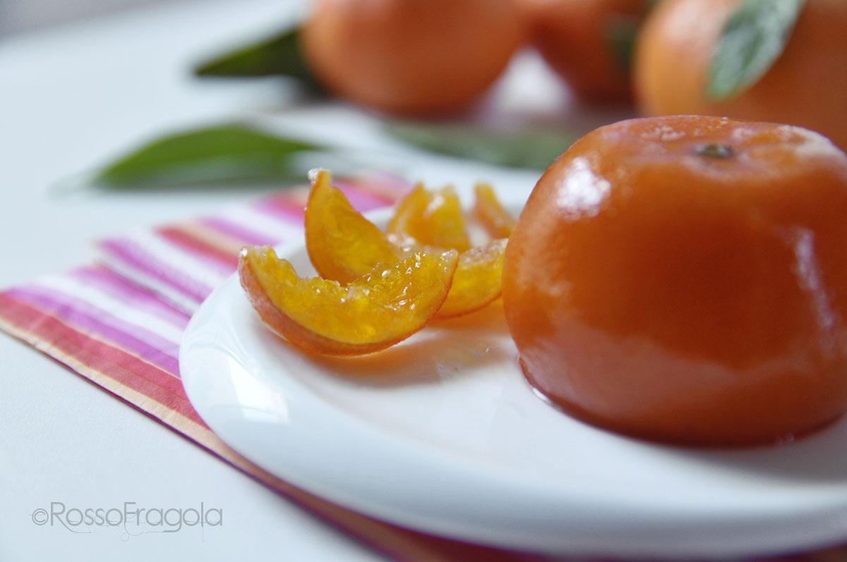 Clementine candite intere fatte in casa