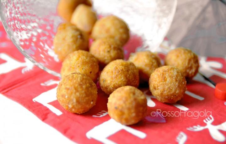 Cheese balls – Palline di formaggio al prosciutto – idea riciclo