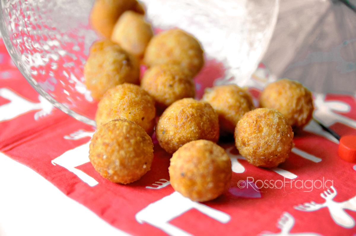 Cheese balls - Palline di formaggio al prosciutto