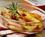 Terrina di patate e carote speziate al forno