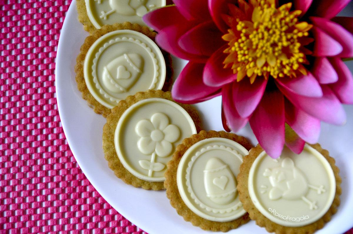 Biscotti al pistacchio e cioccolato bianco