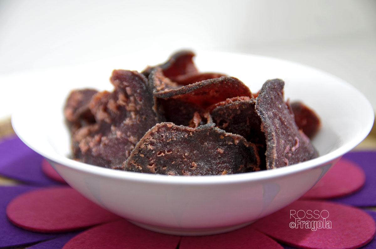 Chips di barbabietole alle spezie