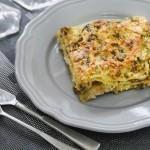 Lasagne con funghi e zucchine....