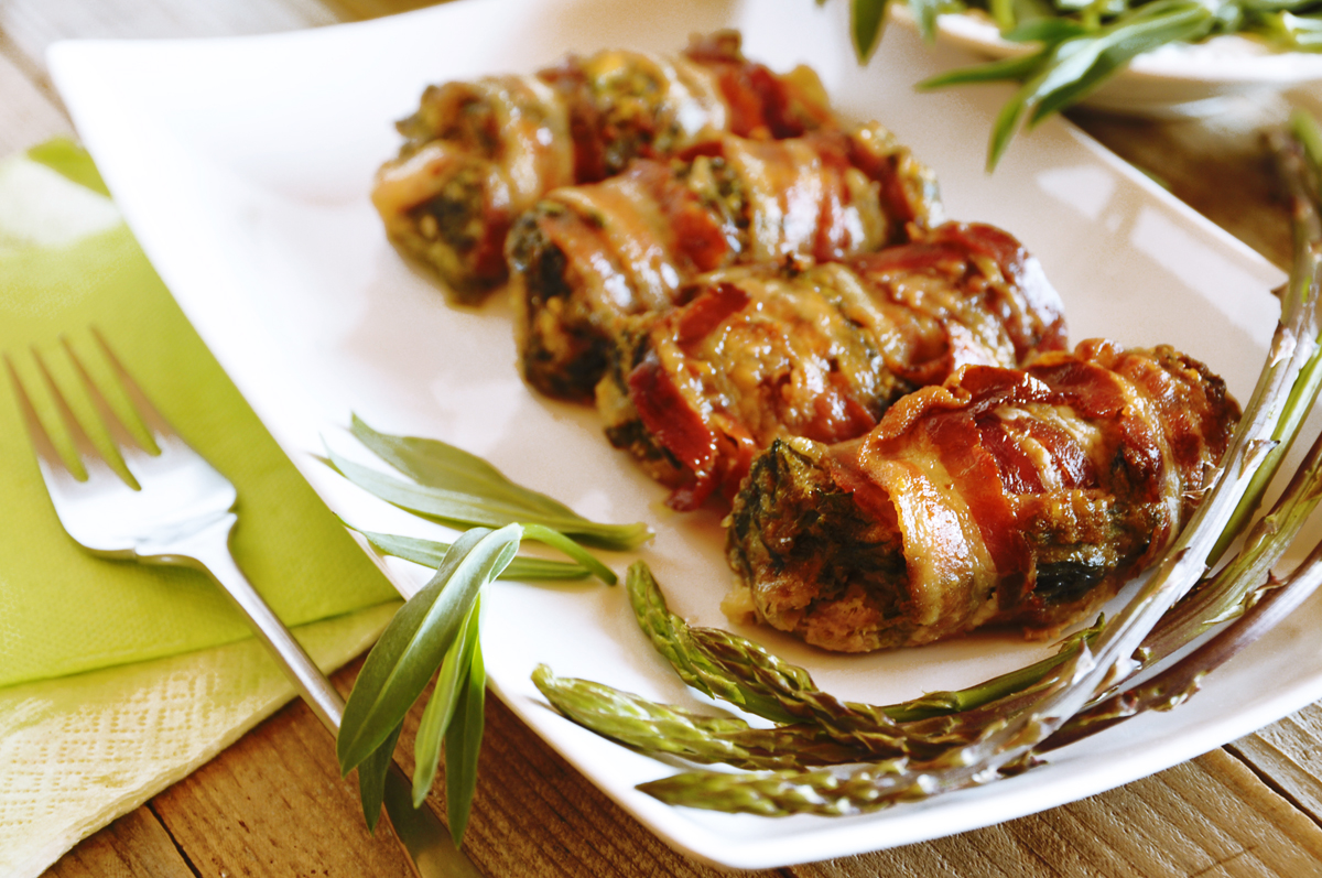 asparagi e strigoli al bacon