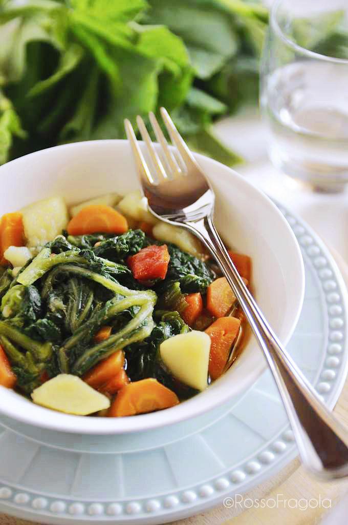 zuppa di tenerumi alla siciliana-