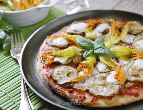 Pizza ortolana ai fiori di zucca
