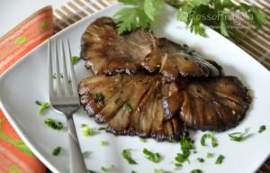 Funghi marinati arrostiti alla piastra