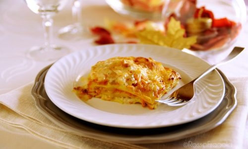 Lasagne con zucca e salsiccia cremose e saporite