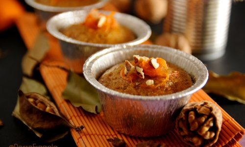 Muffin alla Zucca con Noci e Amaretti speziati alla Cannella