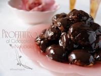 Profitterol al cioccolato con crema pasticcera alla nocciola