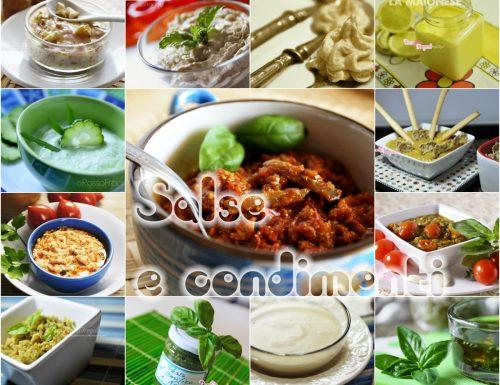 Salse e condimenti per piatti prelibati