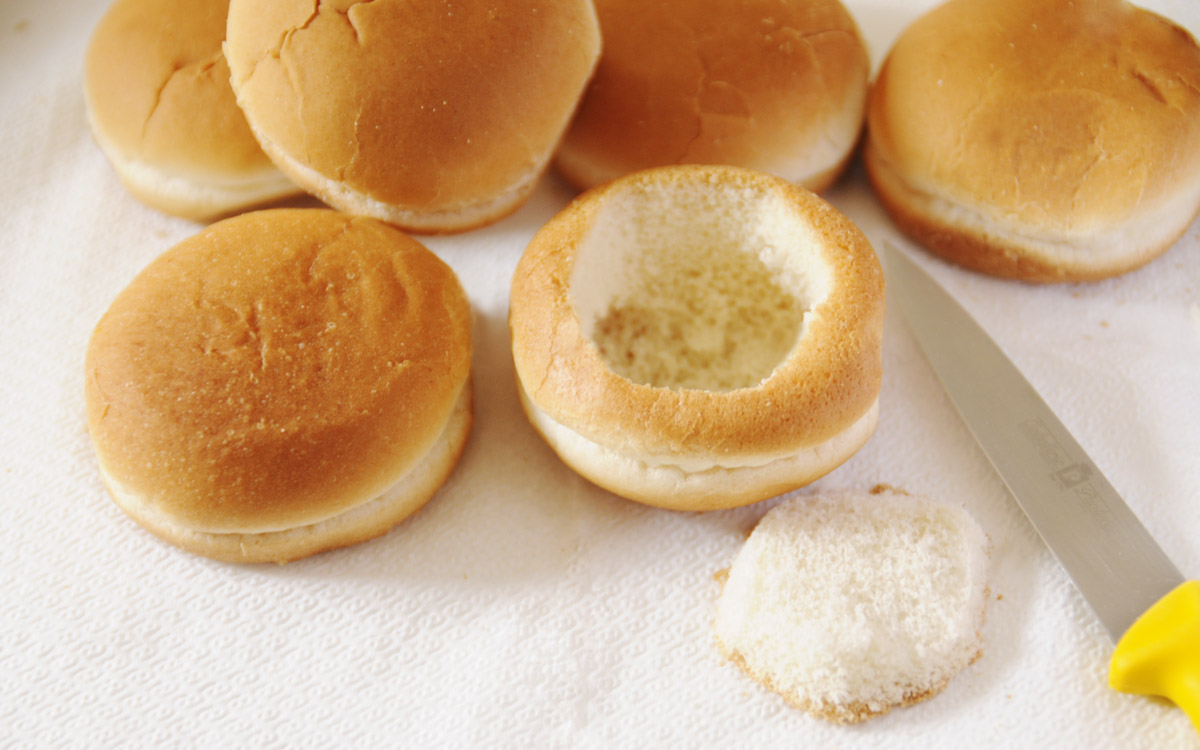 iris alla crema con i panini
