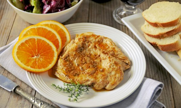 Pollo all'arancia tarocco di Sicilia IGP