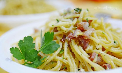 Spaghetti alla carbonara a modo mio